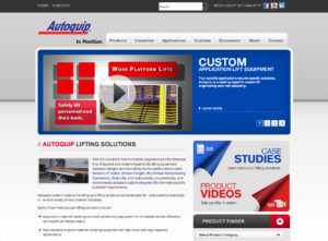 Autoquip website, engineers in lift tables, vertical and dock lifts, and custom lifts.
