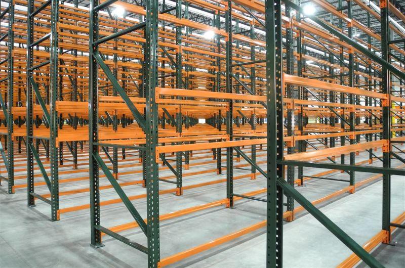 VNA pallet rack in a warehouse.