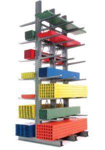 Caltilever pallet rack.