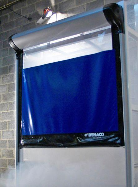 Dynaco roll-up cold storage door.