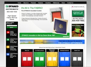 DYNACO website - High speed fabric roll up doors