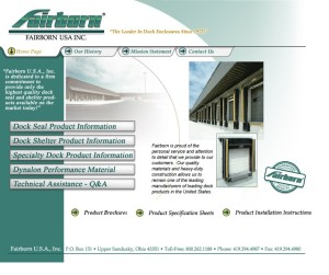 Fairborn website - Dock Enclosures, Seal, and Shelter Products