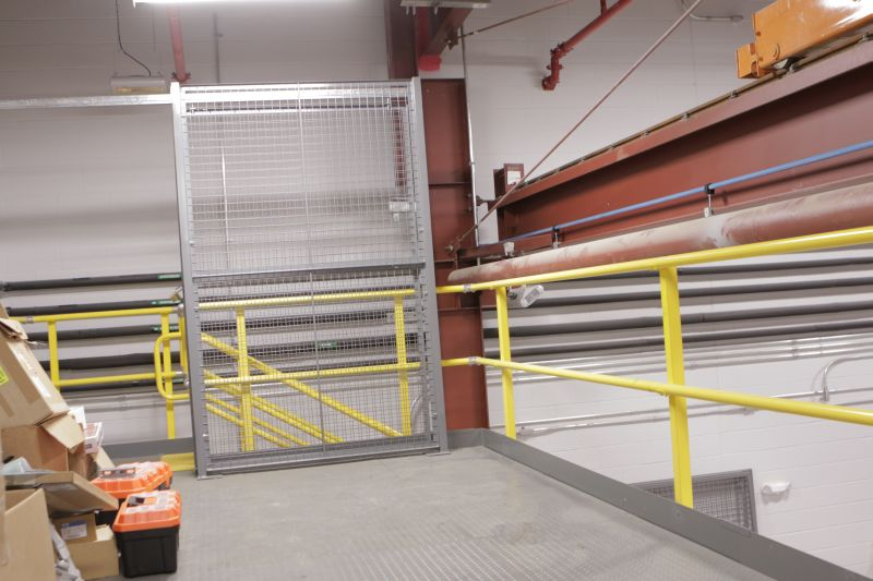 mezzanine storage sliding door