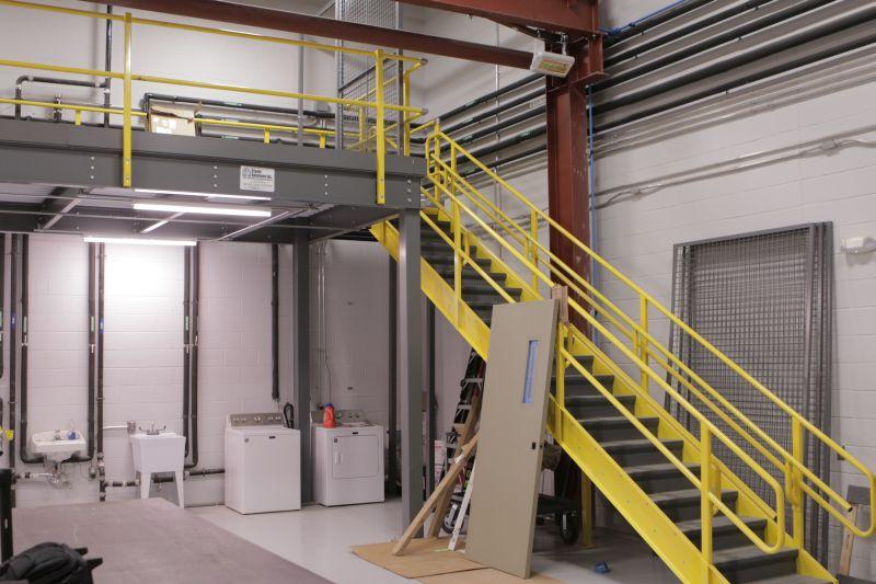 Custom warehouse mezzanine.