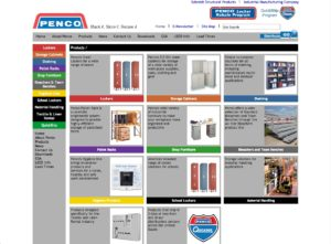 Penco website - storage products