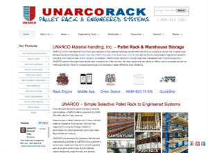 UNARCO Website - Pallet Rack & Warehouse Storage