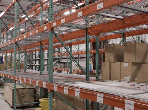 Warehouse pallet racking.