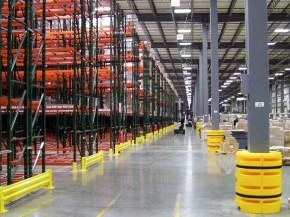 Warehouse racking units.