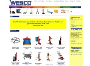Wesco Industrial Products website - Material handling equipment